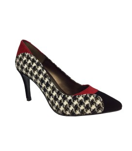 DANIELA SHOES 18621 Ante Rojo Negro