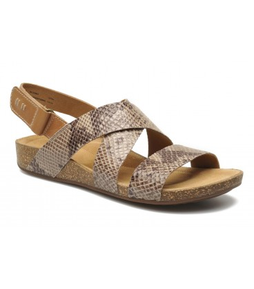 CLARKS PERRI DUNES Taupe Snake